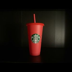 Starbucks color changing cup in red